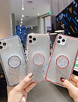 cheap -Case For Apple iPhone 11 / iPhone 11 Pro / iPhone 11 Pro Max Rhinestone / with Stand / Glitter Shine Back Cover Glitter Shine TPU