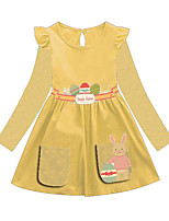 cheap -Kids Girls' Animal Dress Yellow