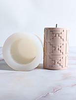 abordables -créatif bougie cylindrique moule en silicone moule bougie faisant l'outil bricolage bougie moule