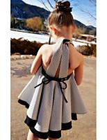 cheap -Kids Girls' Color Block Dress Gray