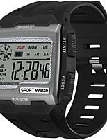 cheap -SYNOKE Digital Watch Digital Sporty Stylish Silicone 30 m Water Resistant / Waterproof Calendar / date / day LCD Digital Outdoor Fashion - Black Black / Blue black / gold