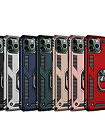 cheap -Case For Apple iPhone 11 / iPhone 11 Pro / iPhone 11 Pro Max Shockproof / Ring Holder Back Cover Solid Colored TPU / PC