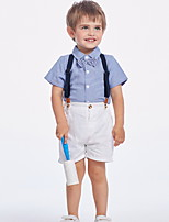 cheap -Boys' Basic Solid Colored Clothing Set Blue