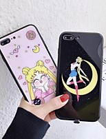 cheap -Case For Apple iPhone 11 / iPhone 11 Pro / iPhone 11 Pro Max Shockproof / Dustproof / LED Flash Lighting Back Cover Word / Phrase / Cartoon PC