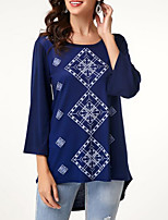 abordables -Tee-shirt Femme, Géométrique Violet