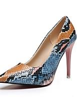cheap -Women's Heels Stiletto Heel Pointed Toe PU Winter Green / Pink