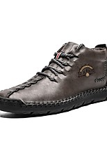abordables -Homme Chaussures de confort Microfibre Automne hiver Basket Noir / Marron / Gris