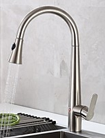 cheap -Kitchen faucet - Single Handle One Hole Electroplated Pull-out / ­Pull-down / Tall / ­High Arc Centerset Contemporary Kitchen Taps