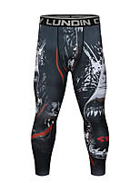 cheap -CODYLUNDIN Men's Running Tights Compression Pants Sports Leggings Running Fitness Jogging Breathable Quick Dry Soft 3D Print Black Dark Grey Black / Red Red Dark Green Dark Navy / Stretchy / Skinny