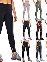 cheap -Women's High Waist Yoga Pants Fashion Black Purple Army Green Green Burgundy Running Fitness Gym Workout Tights Leggings Sport Activewear Moisture Wicking Butt Lift Tummy Control High Elasticity Slim