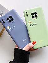 cheap -Case For Huawei Huawei P30 / Huawei P30 Pro / Mate 30 Shockproof / Ultra-thin Back Cover Word / Phrase / Solid Colored / Cartoon TPU