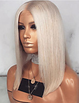 cheap -Synthetic Wig Straight kinky Straight Asymmetrical Wig Medium Length Grey Synthetic Hair 16 inch Women's Best Quality Brown Ombre