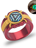 cheap -Couple's Band Ring 1pc Dark Red Alloy Geometric Punk Trendy Daily Jewelry Geometrical Hope Cool