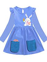 cheap -Kids Girls' Animal Dress Blue
