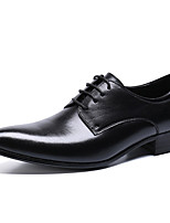 cheap -Men's Formal Shoes Nappa Leather Spring & Summer / Fall & Winter Classic / Casual Oxfords Non-slipping Black / Party & Evening