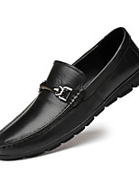 cheap -Men's Formal Shoes Nappa Leather Spring & Summer / Fall & Winter Casual / British Loafers & Slip-Ons Non-slipping Black