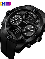 cheap -SKMEI Smartwatch Digital Modern Style Sporty Silicone 30 m Water Resistant / Waterproof Calendar / date / day Casual Watch Analog - Digital Outdoor Fashion - Black Black / Blue Black / Red