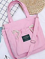 cheap -Women's Zipper Canvas Top Handle Bag Solid Color Yellow