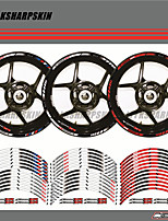 cheap -12 X Thick Edge Outer Rim Sticker Stripe Wheel Decals FIT BMW S1000XR 17''