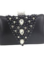 cheap -Women's Pearls / Chain PU Evening Bag Black / Gold / Silver