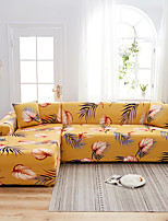 cheap -Leaves Print Dustproof All-powerful Slipcovers Stretch L Shape Sofa Cover Super Soft Fabric Couch Cover with One Free Pillow Case