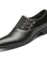 abordables -Homme Chaussures Formal Faux Cuir Printemps été / Automne hiver Business / Simple Oxfords Respirable Noir / Marron / Jaune