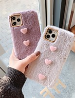 cheap -Case For Apple iPhone 11 / iPhone 11 Pro / iPhone 11 Pro Max Shockproof Back Cover Heart / Cartoon / Plush TPU
