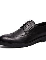 cheap -Men's Comfort Shoes PU Winter Oxfords Black / Brown