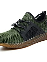 cheap -Men's Comfort Shoes Tissage Volant Summer Sneakers Black / Green / Gray