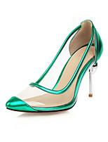 cheap -Women's Heels Stiletto Heel Pointed Toe Rhinestone Microfiber Classic Spring & Summer Black / Gold / Silver / Wedding / Party & Evening / Color Block
