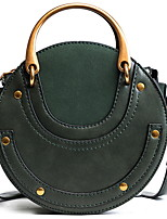 cheap -Women's PU Top Handle Bag Solid Color Black / Brown / Green