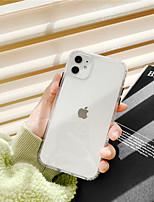 cheap -Case For Apple iPhone 11 / iPhone 11 Pro / iPhone 11 Pro Max Transparent Back Cover Transparent TPU X XS XSmax XR 7 7plus 8 8plus 6  6plus