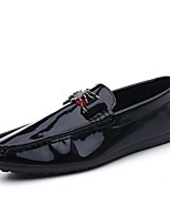 cheap -Men's Comfort Shoes PU Spring Loafers & Slip-Ons Black