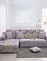 cheap -Smiling Face Print Dustproof All-powerful Slipcovers Stretch Sofa Cover Super Soft Fabric Couch Cover with One Free Pillow Case