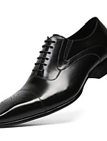 cheap -Men's Formal Shoes Nappa Leather Spring & Summer / Fall & Winter Business / British Oxfords Non-slipping Black / Brown / Wedding / Party & Evening