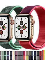 abordables -bracelet pour montre Apple série 3/2/1 38 mm 42 mm nylon souple respirant bracelet de remplacement boucle de sport pour iwatch série 4 5 40 mm 44 mm