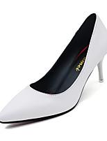 cheap -Women's Heels Stiletto Heel Pointed Toe PU Winter Black / White / Red