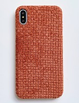 cheap -Case For Apple iPhone 11 / iPhone 11 Pro / iPhone 11 Pro Max Shockproof Back Cover Lines / Waves / Solid Colored / Plush Textile / PC