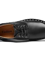 cheap -Men's Comfort Shoes PU Fall & Winter Oxfords Black / Light Brown