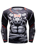 cheap -CODYLUNDIN Men's Compression Shirt Running Shirt Running Base Layer Winter Round Neck Running Active Training Jogging Breathable Soft Sweat-wicking Sportswear Panda Top Long Sleeve Activewear Stretchy