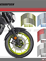 cheap -Common / Individuality Brown / White / Blushing 12 X Thick Edge Outer Rim Sticker Stripe Wheel Decals FIT YAMAHA MT07