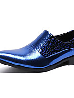 cheap -Men's Novelty Shoes Nappa Leather Spring & Summer / Fall & Winter Casual / British Loafers & Slip-Ons Non-slipping Blue / Party & Evening