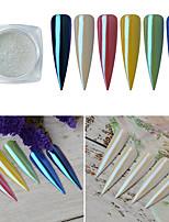 cheap -1 pcs Glossy / Anti-Friction Glitter Glitter Powder Loose powder For Finger Nail Beauty Shop Mermaid nail art Manicure Pedicure Daily Basic / Fashion