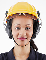 cheap -HUARUI Noise-canceling Helmet Attachable Ear Muffs for Construction Site Cap Mounted Protective Safety Ear Muffs with Hard Hat Mounting Adaptors Pink