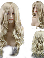 cheap -Synthetic Wig Curly Asymmetrical Wig Long Blonde Synthetic Hair 27 inch Women's Best Quality Blonde
