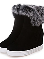 cheap -Women's Boots Hidden Heel Round Toe Suede Booties / Ankle Boots Fall & Winter Black