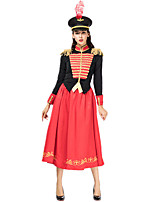 cheap -Knight Ritter Dress Hat Outfits Women's Movie Cosplay Cosplay Napoleon Jacket Red Dress Hat Halloween Carnival Masquerade Polyester