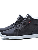cheap -Men's Comfort Shoes PU Fall & Winter Boots Booties / Ankle Boots Black / Gray