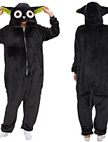 cheap -Adults' Kigurumi Pajamas Bear Onesie Pajamas Flannel Black Cosplay For Men and Women Animal Sleepwear Cartoon Festival / Holiday Costumes / Leotard / Onesie