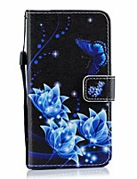 cheap -Case For Asus Card Holder / with Stand / Flip Full Body Cases Butterfly / sky / Flower PU Leather